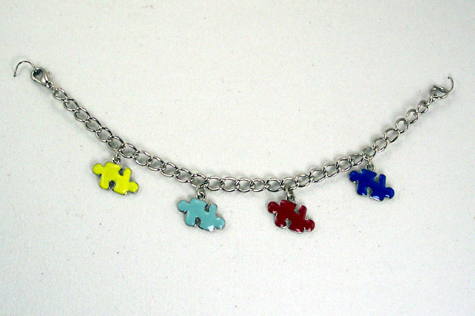 "B0260 - My Piece Fits! - 7.5"" 4 charms"
