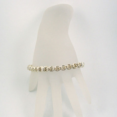 "CM0003B 3 in 3 bracelet SS 5mm 7.5"" - Click Image to Close"
