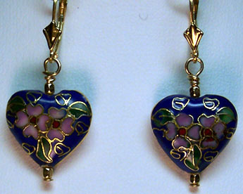 "E0202 - Ch'ing Empress's Sunrise Heart – 1½"" lever backs"