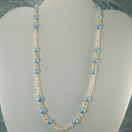 N0097 - Blue Pearl Accent 17""