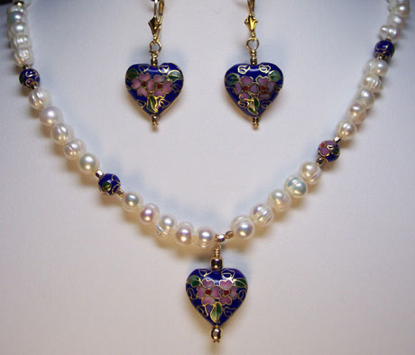 "N0108 - Empress Ch'ing's Sunrise Heart - 18-20"" adjustable"