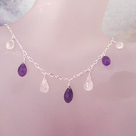 "N0337 - Brandi's Moonshine Necklace - 16""-18"""