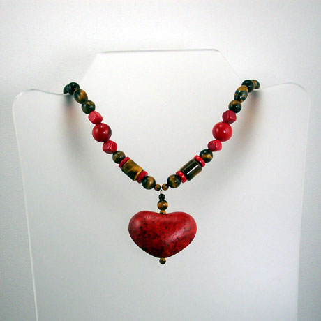 "N0366 - Passionate Heart - 16-18"" adjustable"