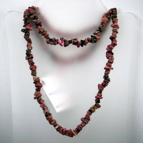 "N0379 - Endless Rhodonite - 36"" - Click Image to Close"