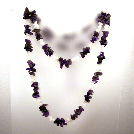 N0381 - Endless Amethyst & Rainbow Moonstone - 36""