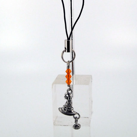 ZPSW076 - Witch's Hat w/Pumpking - zipper pull 2""