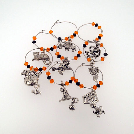 WC018SW - Halloween Wine Charms - 8 pcs