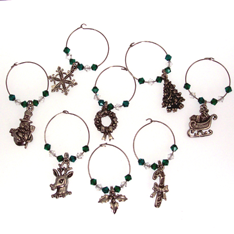 WC027SW - Christmas in Silver - 8 pcs
