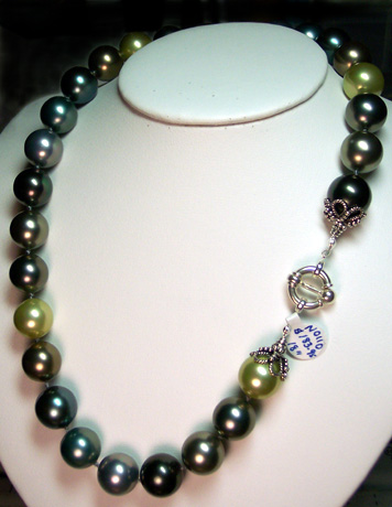 "N0110 - South Sea Shell Pearls 14mm 18"" - Click Image to Close"